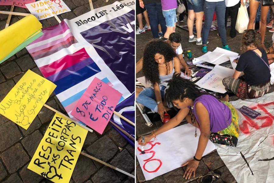 8 de março de 2019: Marcha Mundial das Mulheres na Avenida Paulista, em São Paulo.