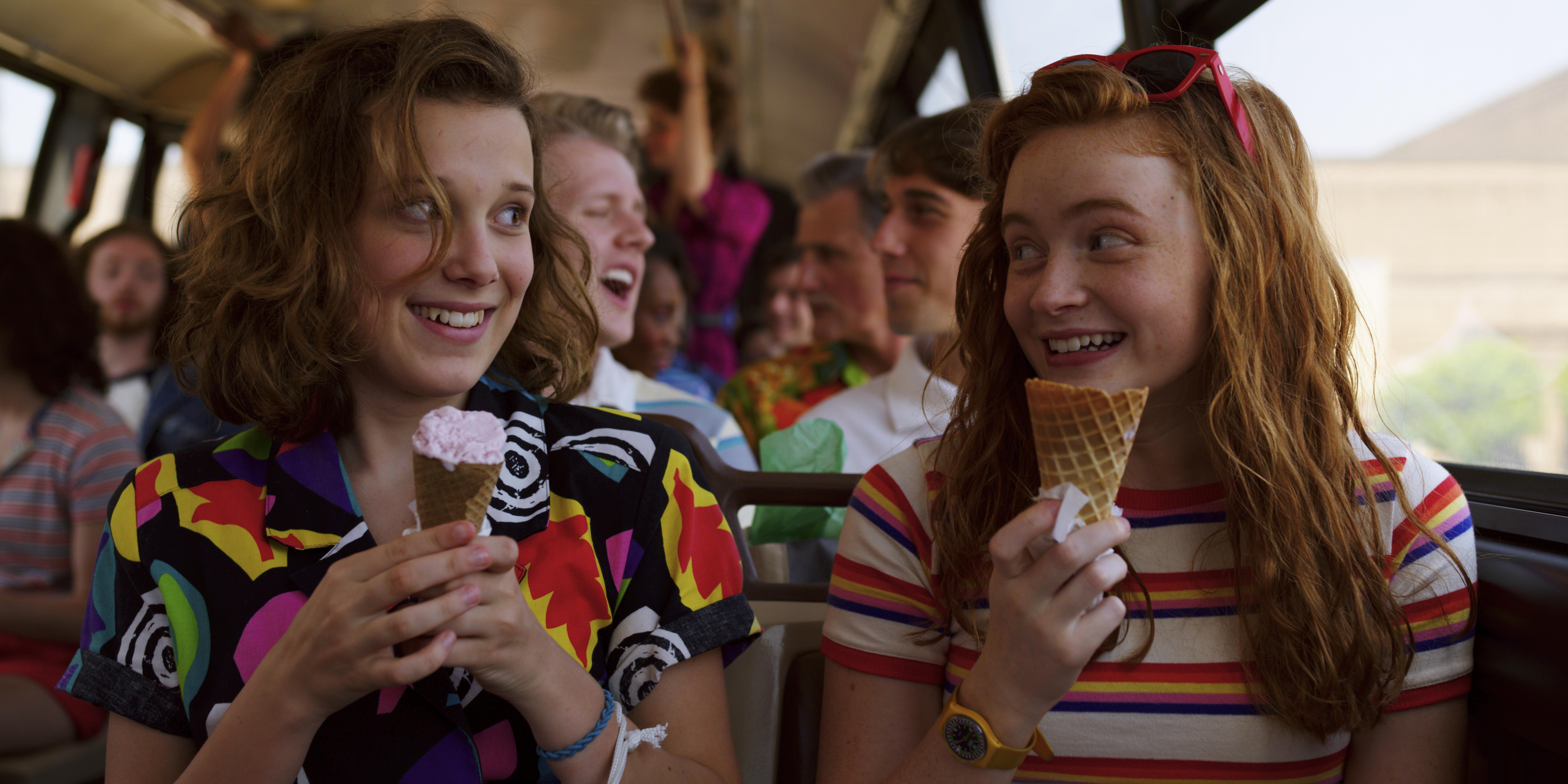 Eleven e Max na terceira temporada de Stranger Things