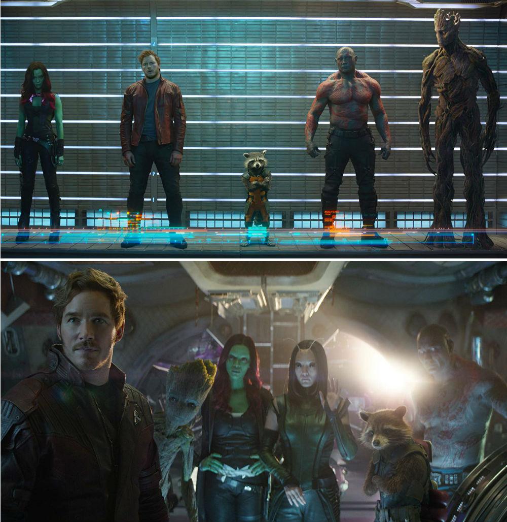 antes-e-depois-vingadores-guardioes-da-galaxia