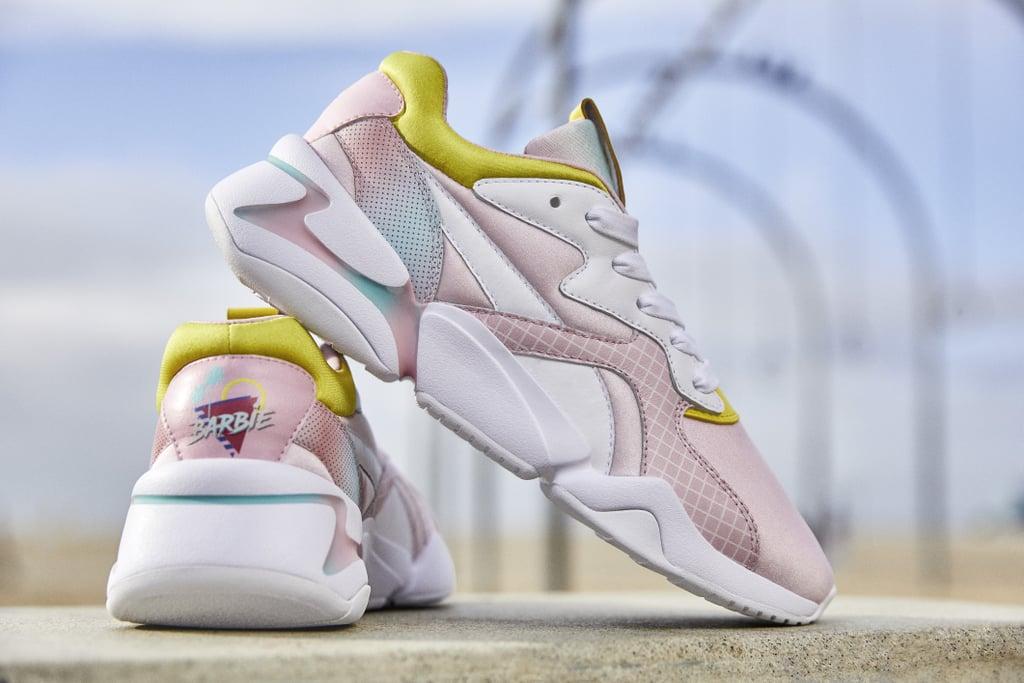 Tênis da coleção Puma x Barbie