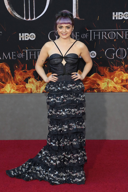 Maisie Williams na premiere de Game Of Thrones em NY