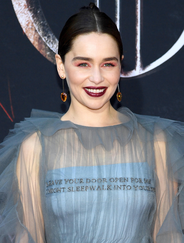 Emilia Clarke na premiere de Game Of Thrones em NY