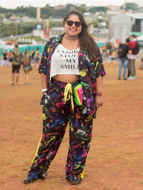 Conjuntinho + blusa estampada = conforto e estilo. (<span>@gabisagulo, 26 anos)</span>