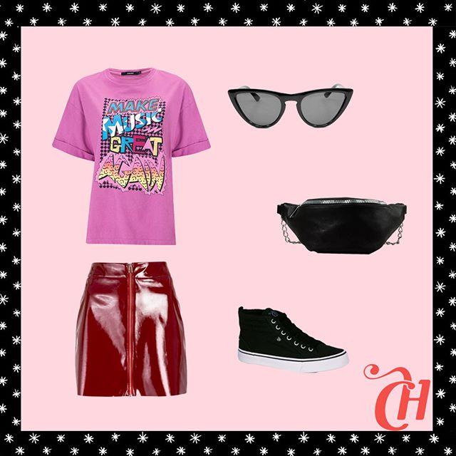 Look com camiseta para o Lollapalooza