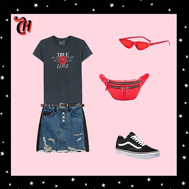 Look com pochete para o Lollapalooza