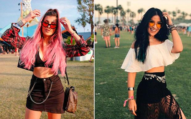 Nah Cardoso e Bianca Andrade de óculos coloridos provam que esse produto fashion é obrigatório para o look festival!