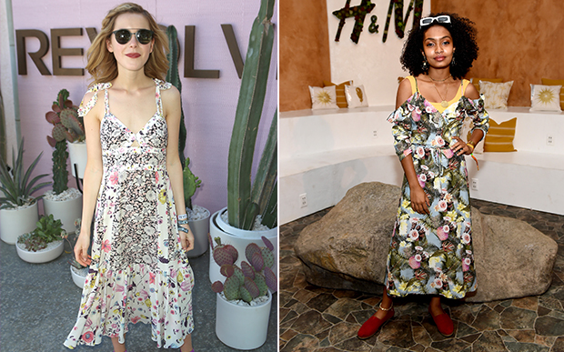 Você quer alegria no seu festival? Pode se inspirar em Kiernan Shipka e Yara Shahidi com esses vestidos longos estampados!
