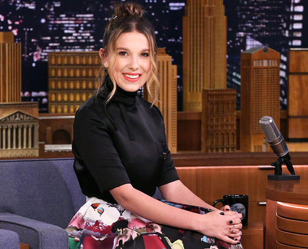 Millie Bobby Brown no The Tonight Show Starring Jimmy Fallon
