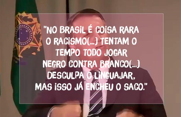 Bolsonaro diz que racismo é 'coisa rara' – mas já foi condenado por isso