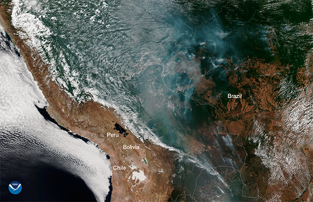 Fumaça das queimadas na Amazônia já pode ser vista do espaço, alerta NASA