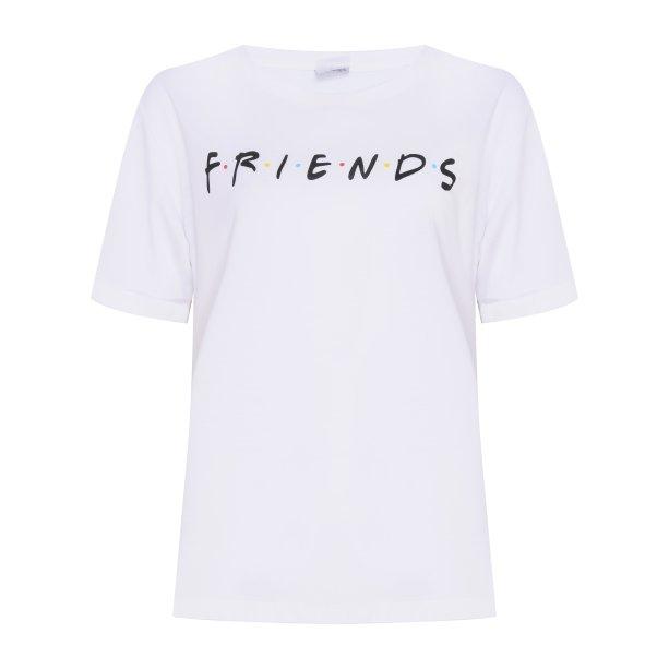 Blusa Friends Manga Curta Branca, C&A, R$49,99.