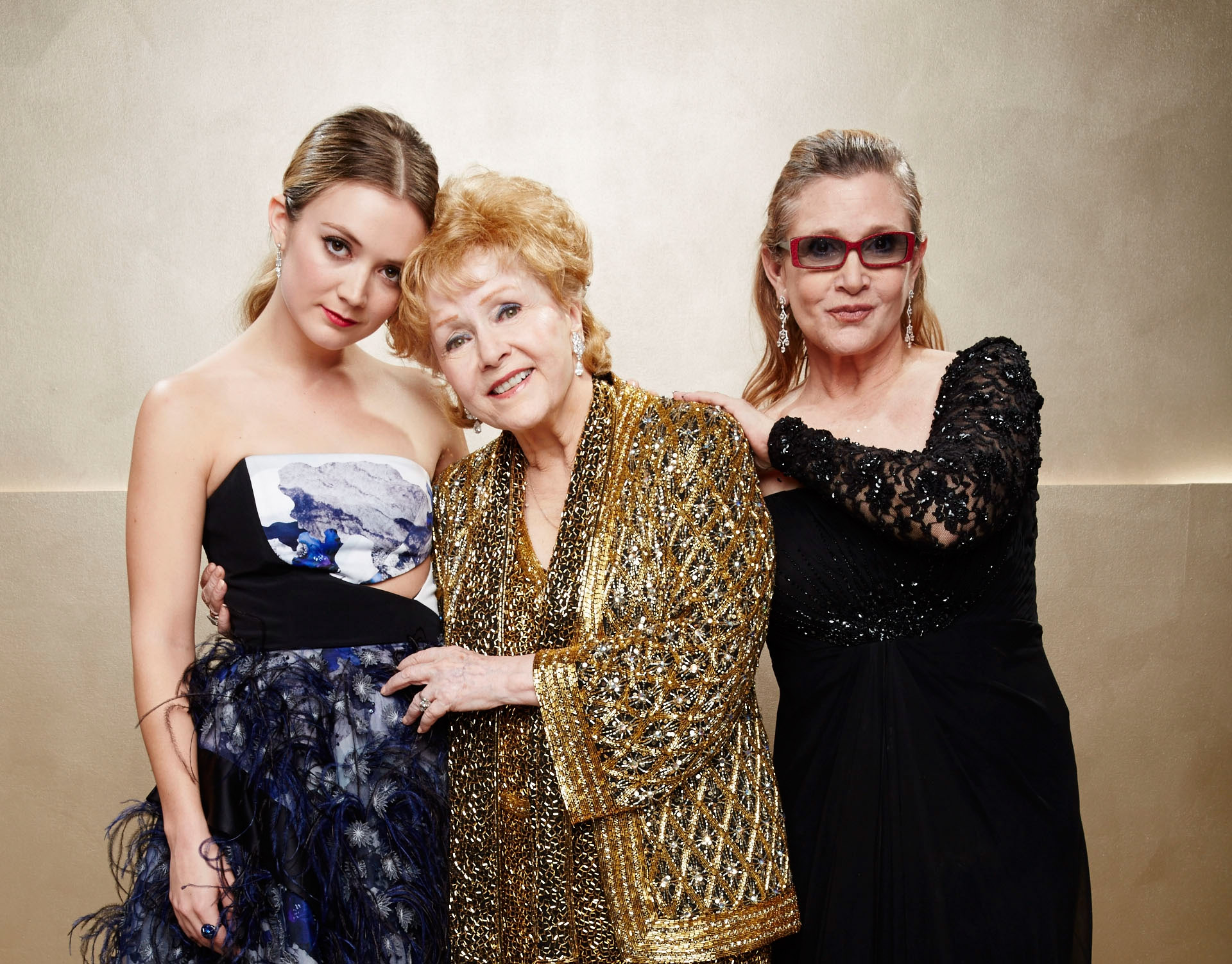 Billie Lourd, Carrie Fisher e Debbie Reynolds