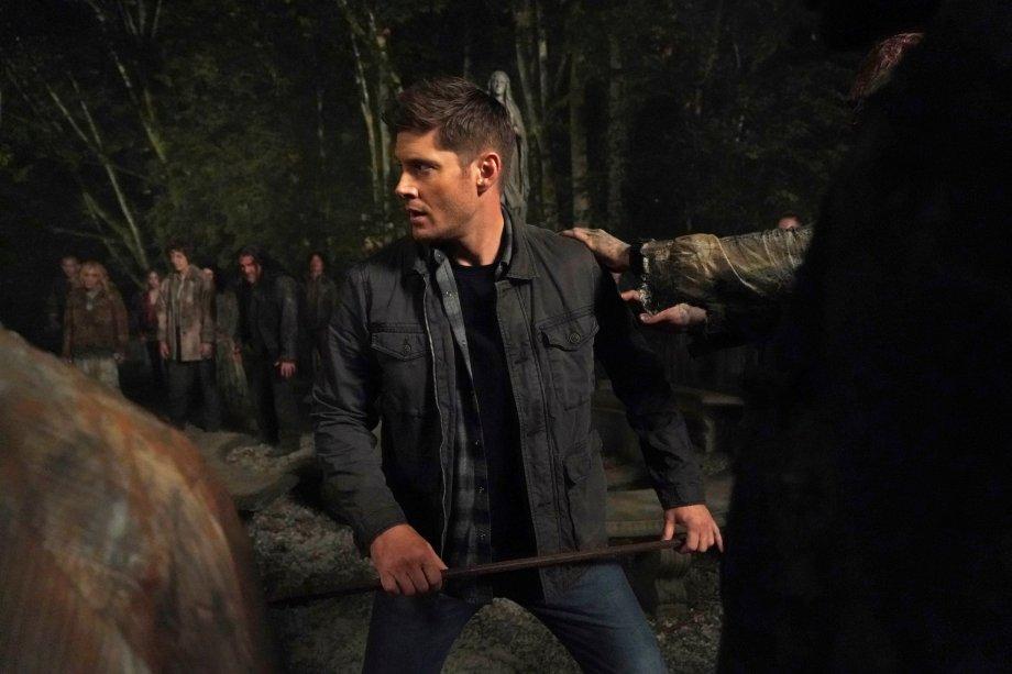 Dean no primeiro episódio da 15ª e última temporada de Supernatural