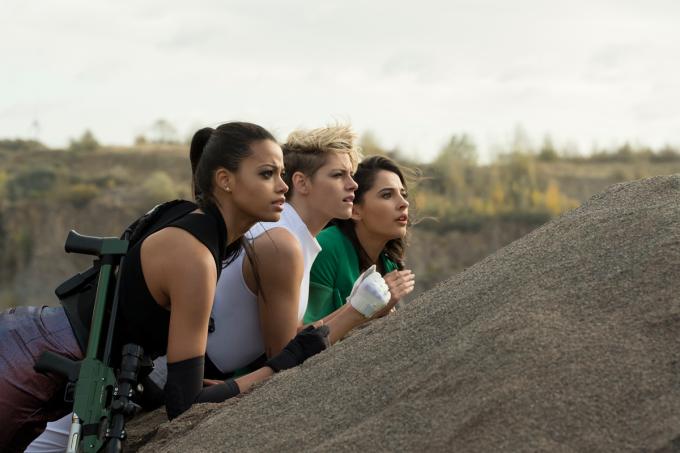 Ella Balinska, Kristen Stewart, Naomi Scott