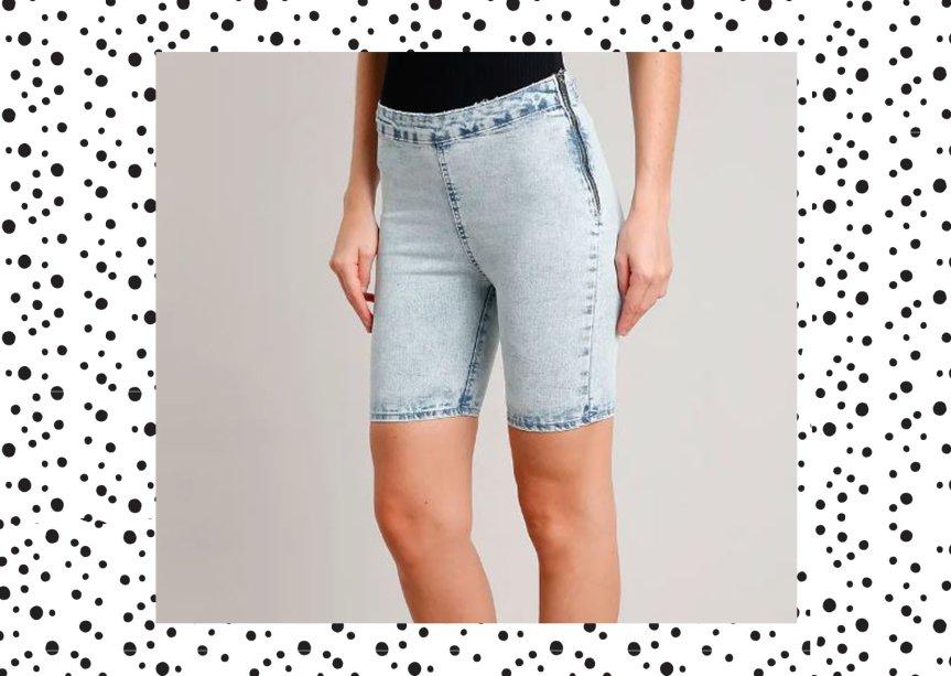 Bermuda Jeans Ciclista, C&A, R$ 79,99*.