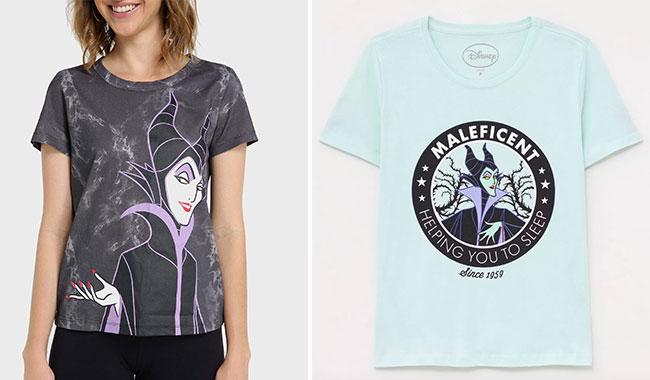 Camisetas Malévola, da Riachuelo (R$ 39,90*), e também da Renner (R$ 49,90*).