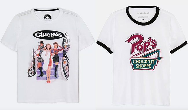 Camisetas Renner As Patricinhas de Beverly Hills e Pop's, de Riverdale (R$ 49,90* e R$ 39,90*).