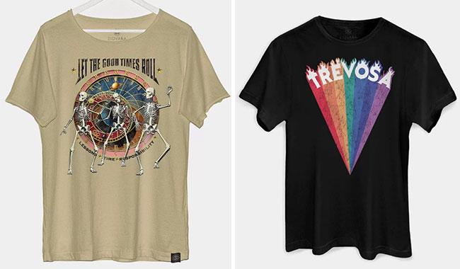 Camisetas Ziovara (R$ 99,90* e R$ 59,90*).