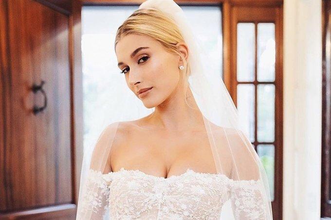 Hailey Bieber Vestido de Noiva