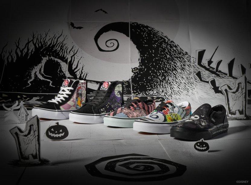 Os tênis Vans do filme O Estranho Mundo de Jack estarão à venda a partir do dia 31 de outubro (de R$ 299,99* a R$ 459,99*).