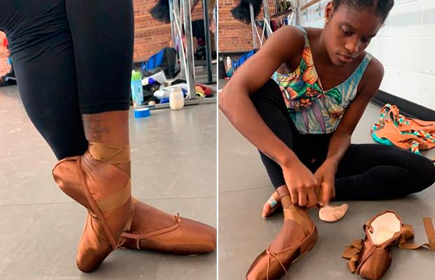 Bailarina acha sapatilha para sua cor de pele após 23 anos de exclusão
