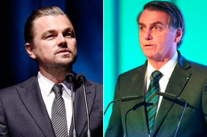 Leonardo DiCaprio é acusado por Bolsonaro de financiar queimadas na Amazônia