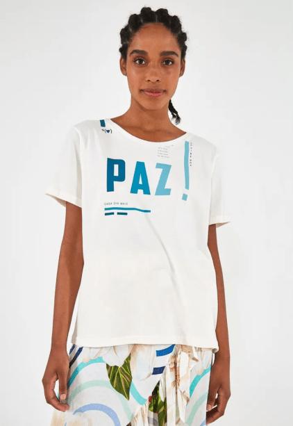 Camiseta Paz, Farm, R$ 98*