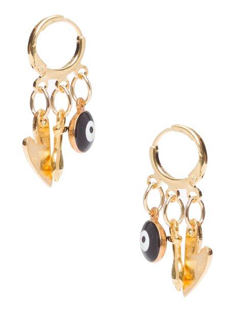 Brinco Dourado Berloques, Twenty Four Seven para Oqvestir, R$ 119*