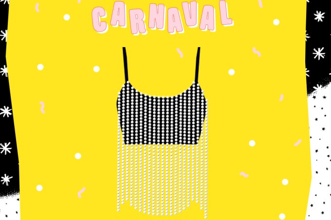 DIY Carnaval Top de strass