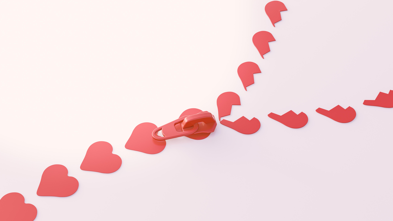 Zíper de coração