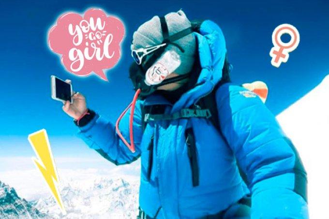 """Conheça a brasileira mais nova a chegar ao """"topo do mundo"""": o Everest!"""