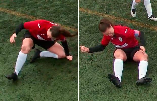 """Jogadora """"conserta"""" joelho deslocado com socos pra poder voltar à partida"""