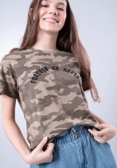 """Camiseta """"Forever or Never"""" da Gang (R$ 79,90*)"""