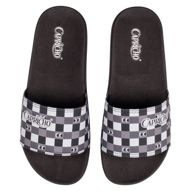 Chinelo Slide Chess Candy, Capricho Shoes, R$ 89,90*.