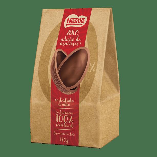 Ovo Nestlé de chocolate ao leite zero adição de açúcar 170g (R$ 39,99*)