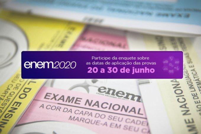 Inep libera enquete para decidir nova data do Enem; saiba como votar!