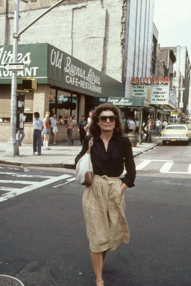 Jacqueline Onassis em Nova York, nos Estados Unidos, em 1981