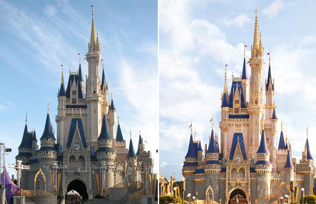 Antes x depois: Castelo da Cinderela no Magic Kingdom passa por reforma
