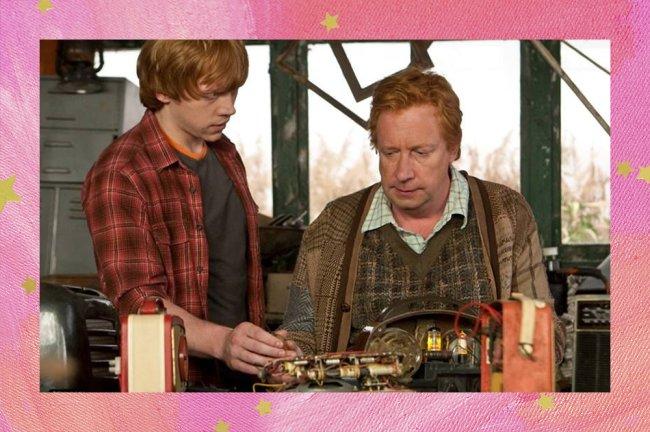Rony e Arthur, de Harry Potter