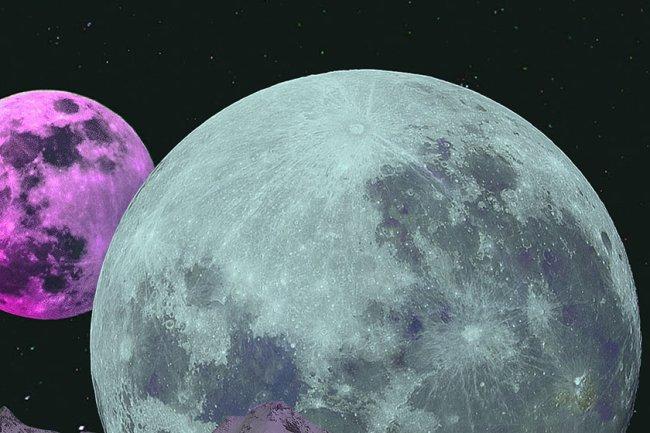 ilustração de lua e planeta horoscopo