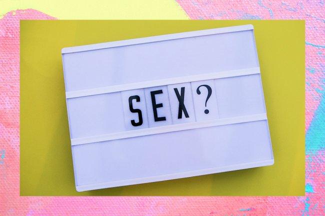 """Imagem de um letreiro escrito """"sexo?"""""""