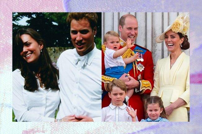Imagens de Kate e William