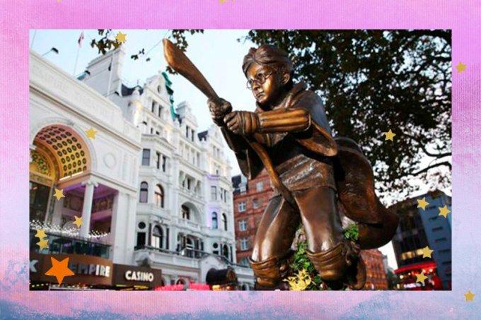 Mundo da magia: Estátua de Harry Potter é inaugurada em Londres