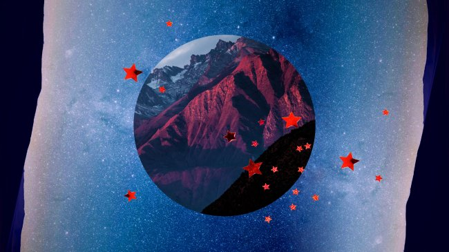 ilustração de lua e estrelas horoscopo