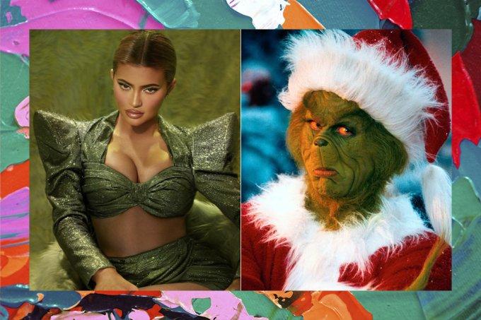 Kylie Jenner lanca colecao de maquiagem de natal inspirada no Grinch