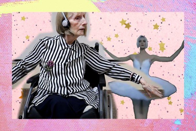 Bailarina com Alzheimer relembra coreografia dos anos 60 ao escutar música