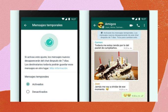 WhatsApp lança recurso de mensagens temporárias, que somem após sete dias