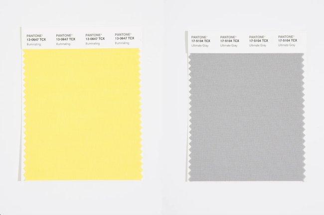 Pantone cor do ano 2021 Ultimate Gray e o Illuminating
