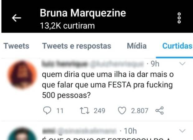 Print do Twitter de Bruna Marquezine