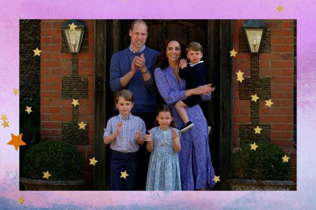 Príncipe William, Kate Middleton, príncipes George e Louis e princesa Charlotte